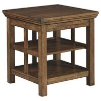 Signature Design by Ashley, Flynnter Casual Medium Brown End Table