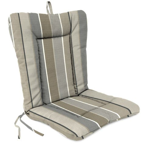 """Jordan Manufacturing Outdoor 21"""" x 38"""" x 3.5"""" Euro Style Dining Chair Cushion, 1-Pack, Milano Char"""