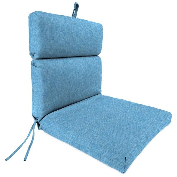"""Jordan Manufacturing Outdoor 22"""" x 44"""" x 4"""" Chair Cushion, 1-Pack, Breamlane Blue"""