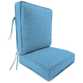 "Jordan Manufacturing Outdoor 45"" x 21.5"" x 4"" 2-piece Deep Seat Cushion, 1-Pack,  Breamlane Blue"