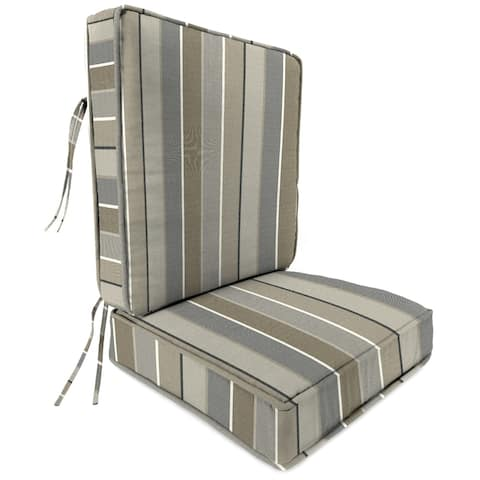 "Jordan Manufacturing Outdoor 45"" x 21.5"" x 4"" 2-piece Deep Seat Cushion, 1-Pack, Milano Char"