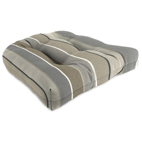 "Jordan Manufacturing 1-Pack, 18"" x 18"" x 4"" Outdoor Wicker Chair Cushions, Milano Char"