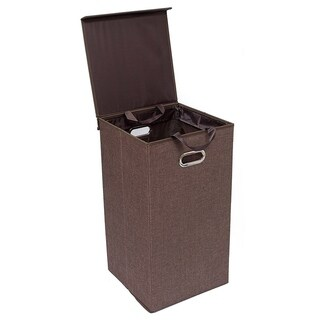 BirdRock Home Single Laundry Hamper with Lid and Removable Liner