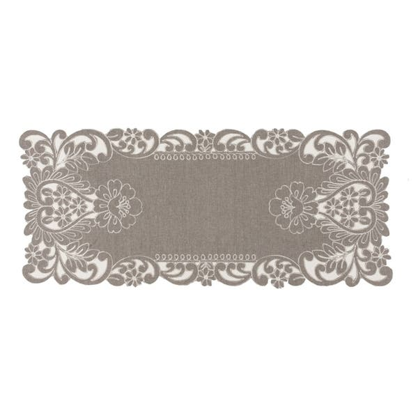 Shop Claire Floral Embroidered Cutwork Table Runner 16 By