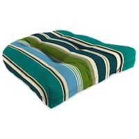 "Jordan Manufacturing 1-Pack, 18"" x 18"" x 4"" Outdoor Wicker Chair Cushions,  Bella Capri"
