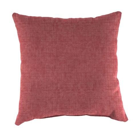 """Jordan Manufacturing Outdoor 16"""" x 16"""" Toss Pillows, Breamlane Lipstick/Blue"""