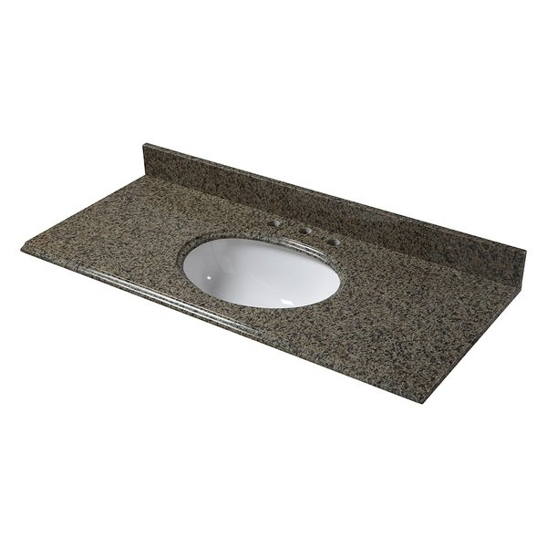 Cahaba Quadro Granite 49 Inch X 22 Inch Oval Bowl Vanity Top With 8