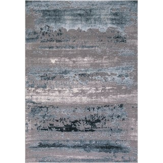 """Concord Global Thema Distressed Blue Rug - 6'7"""" x 9'1"""""""