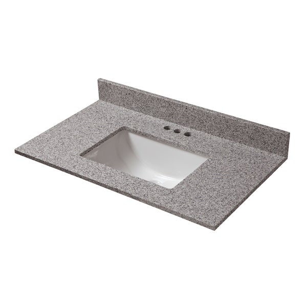 31 in. x 19 in. Napoli Granite Vanity Top & 4 in. Spread