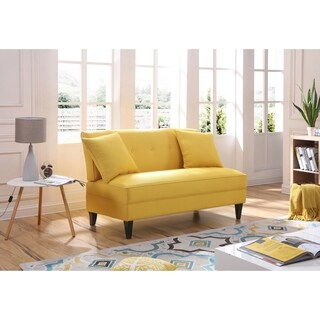 LYKE Home Yellow Polyblend armless loveseat