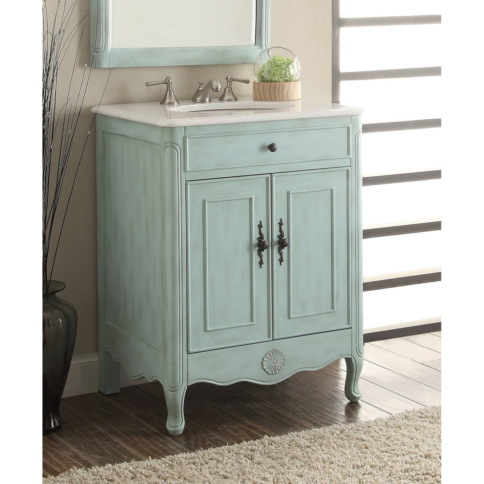 26 Benton Collection Daleville L Blue Vintage Bathroom Vanity Sink Overstock 20729035