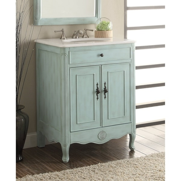 26 Benton Collection Daleville L Blue Vintage Bathroom Vanity Sink
