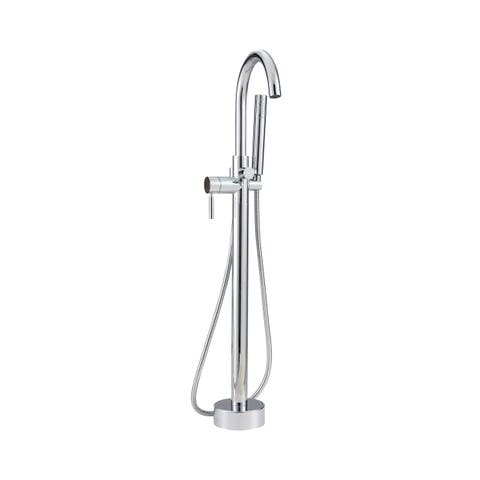 Caylin 1-Handle Freestanding Tub Faucet & Handshower in Chrome