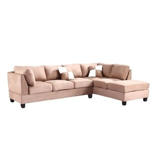 Lyke Home Mocha Microsuede Sectional