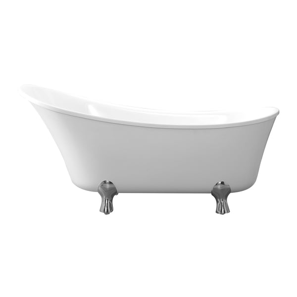 Pearl 69 In. Freestanding Acrylic Tub In Glossy White