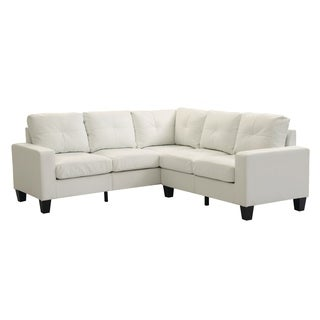 Lyke Home White Faux Leather Sectional