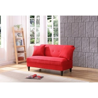 LYKE Home Red Polyblend armless loveseat