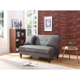 LYKE Home Charcoal Polyblend armless loveseat