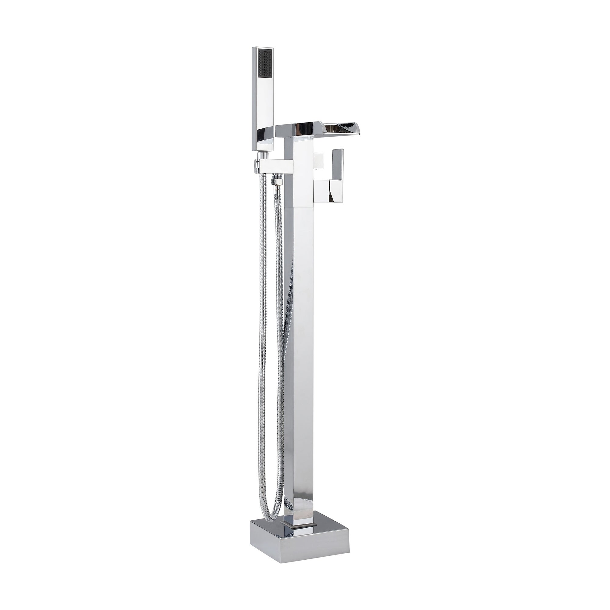 Dima 1 Handle Freestanding Waterfall Tub Faucet Handshower In Chrome