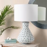 Vieira 29.5 in. Aqua Transitional Table Lamp