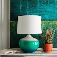 Beno 29 in. Emerald Transitional Table Lamp