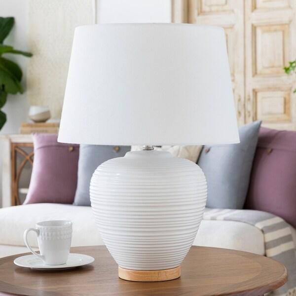 Essart 23.5 in. White Modern Table Lamp