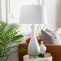 Crimson 31 in. Gray Updated Traditional Table Lamp