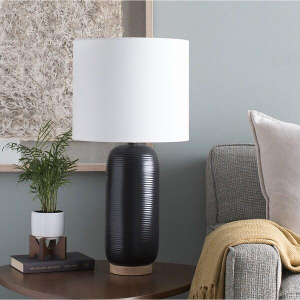 Hamiti 25.5 in. Black Modern Table Lamp