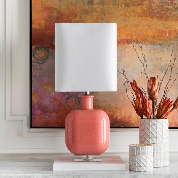 Burgess 23 in. Coral Transitional Table Lamp