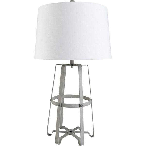 Lema 28.25 in. Gray Modern Table Lamp