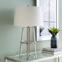 Lema 28.25 in. Gray Modern Table Lamp