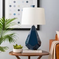 Abraham 27 in. Blue Modern Table Lamp