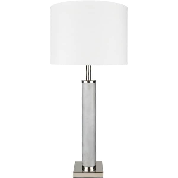 Lorenzi 33 in. Gray Modern Table Lamp