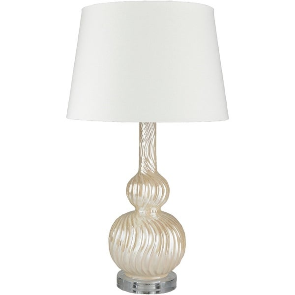 Picken 27 in. Ivory Updated Traditional Table Lamp