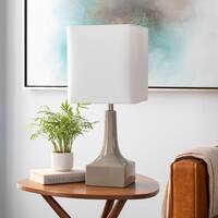 Egerton 26 in. Taupe Modern Table Lamp