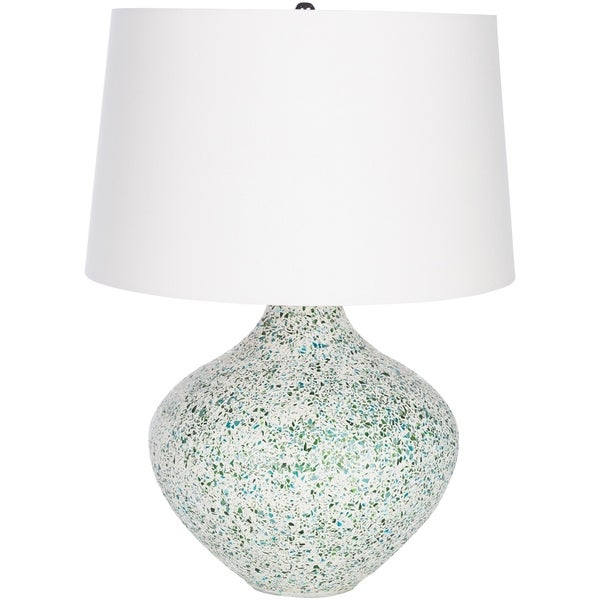 Mather 25 in. Aqua/Green Transitional Table Lamp
