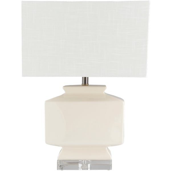Sheva 25.5 in. Off-White Updated Traditional Table Lamp