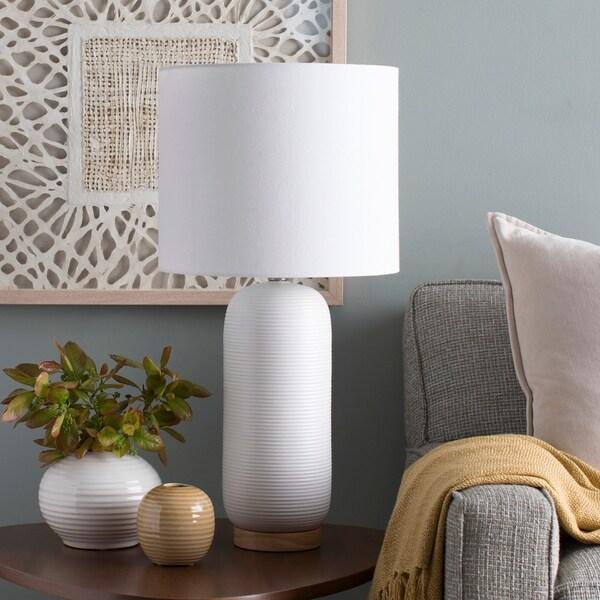 Hamiti 25.5 in. White Modern Table Lamp