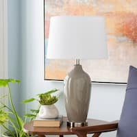 Dominique 27 in. Taupe Traditional Table Lamp