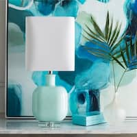 Burgess 23 in. Mint Transitional Table Lamp