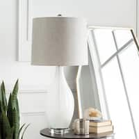 Julian 30.75 in. White Updated Traditional Table Lamp