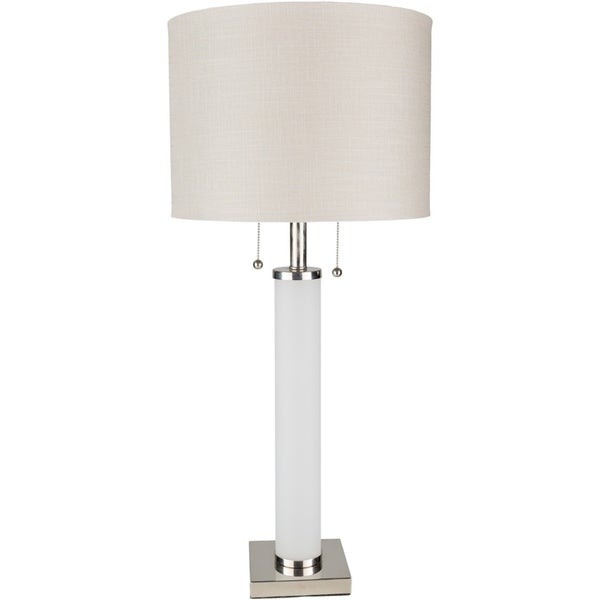 Pius 33 in. White Modern Table Lamp
