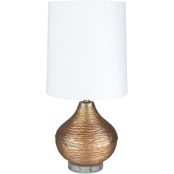Jordi 26.5 in. Rose Gold Transitional Table Lamp