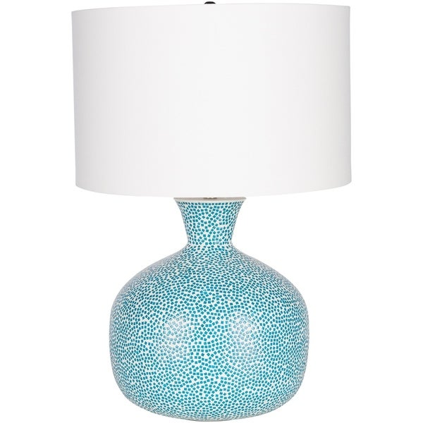 Lumby 24.5 in. Aqua Transitional Table Lamp