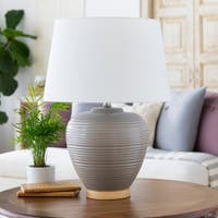 Essart 23.5 in. Gray Modern Table Lamp