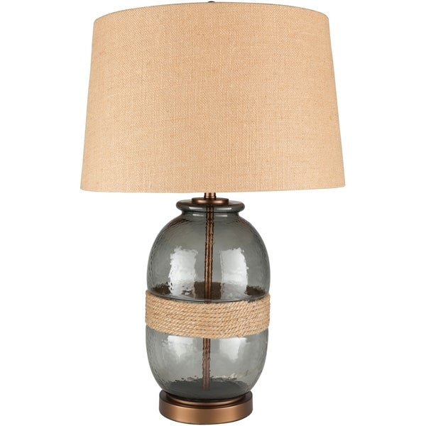 Thane 27.25 in. Charcoal Transitional Table Lamp