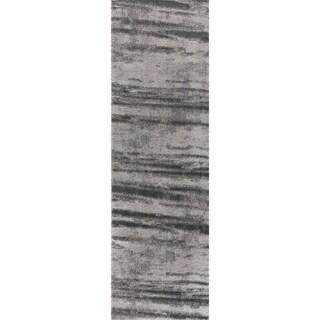 "Sela Tlight Collection Gray Runner Rug - 2'3"" x 8'"