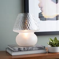 Augusto 12 in. White Modern Table Lamp