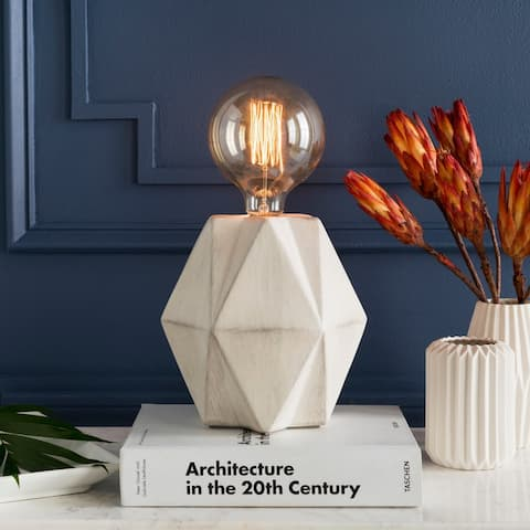 Anell 14 in. White Modern Table Lamp