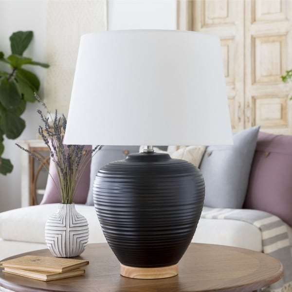 Essart 23.5 in. Black Transitional Table Lamp